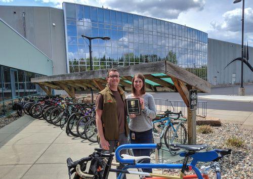 QBP employees Seth Nesselhuf and Kristin Goetze