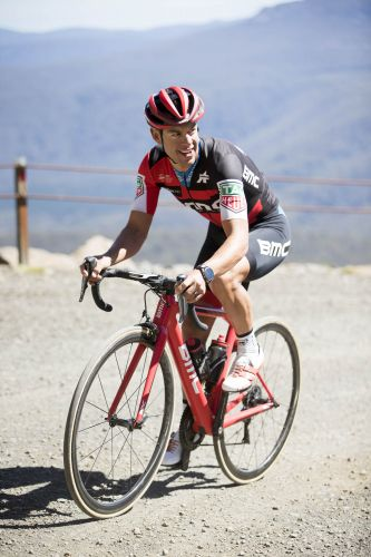 BMC's Richie Porte in the new Giro Aether.