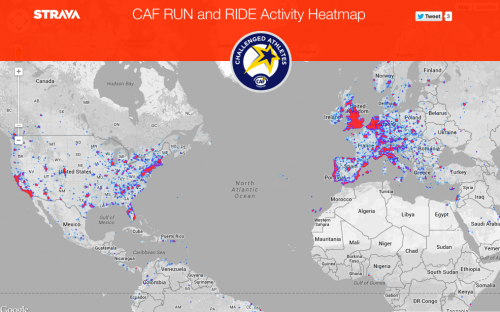 A heat map of the activites from the challenge.