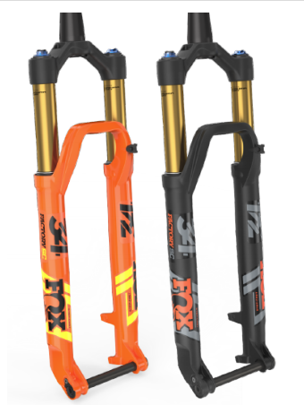 Fox introduced the Step Cast 34 fork at Sea Otter.