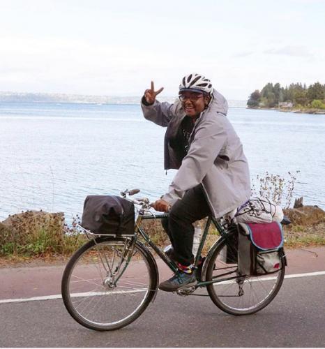 Brooks in a Friends On Bikes Instagram post.