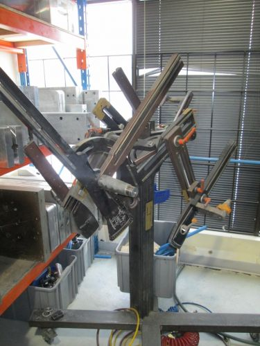 This frame jig is among the equipment to be auctioned.