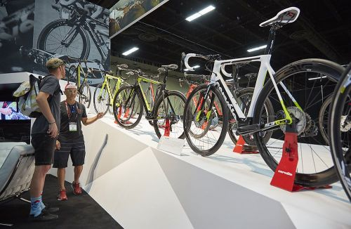 Cervelo's display at Interbike in 2017.