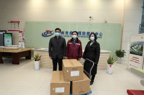 Bafang organized the delivery of protective suits, masks and goggles.
