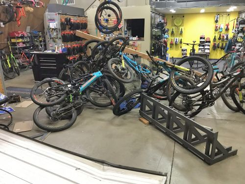 Sports Garage Cycling experienced a smash and grab last year.