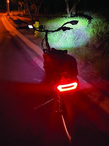 Pedego's third-generation battery incorporates a wraparound taillight.