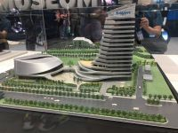 Giant showed a model of the headquarters at the Taipei show last year.