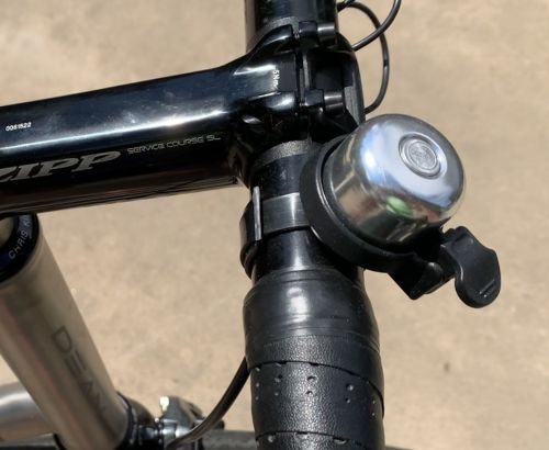 Even Keener's fancy titanium road bike has a bell.