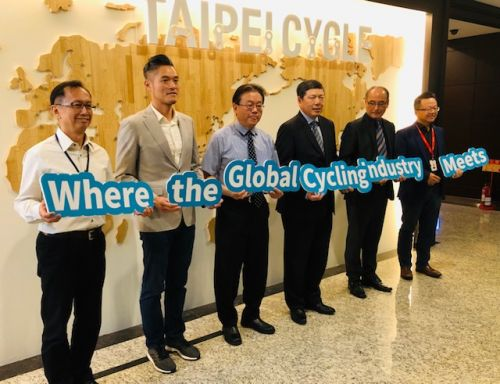 TAITRA officials met with journalists on Monday to discuss the bike industry.