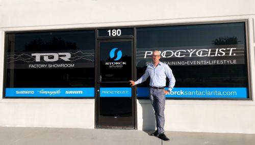 Owner Peter Dorantes in front of his Storck store in Santa Clarita.