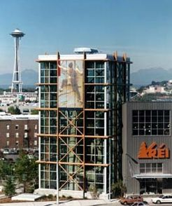 REI's flagship Seattle location.