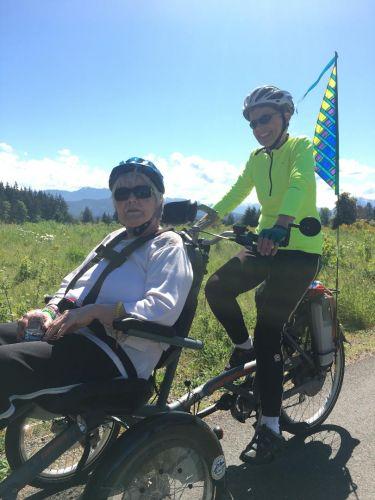 The Sequim Wheelers program uses the Van Raam OPair wheelchair bike.