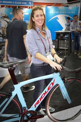 Heather Rizzi, previously U.S. sales manager for Eddy Merckx, is now representing Merckx and Ridley.