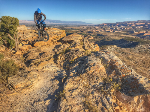 Lance Canfield riding near Fruita.