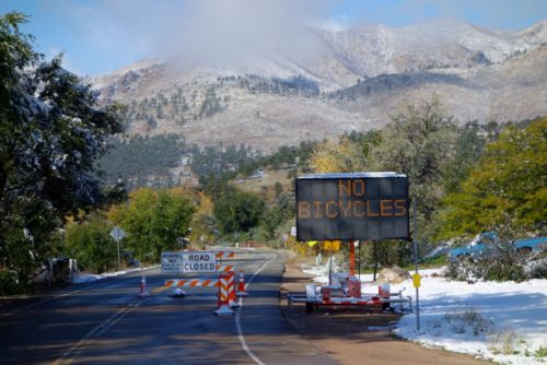 The base of Lefthand Canyon Drive on Friday.