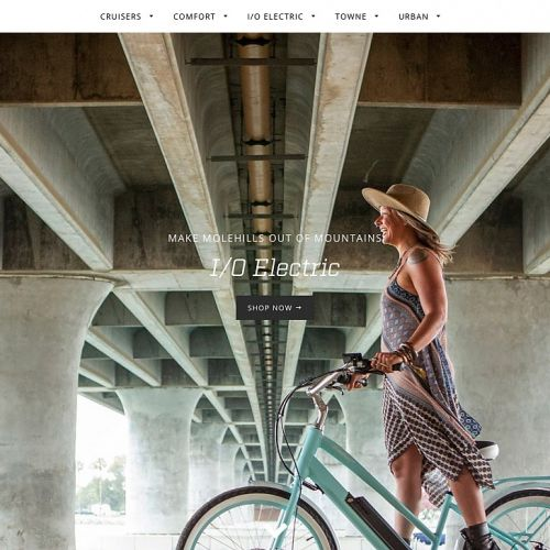 The Ridedelsol.com homepage.