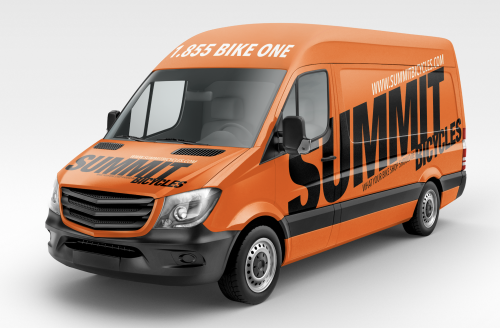 Summit Bicycles is rebranding its van fleet.