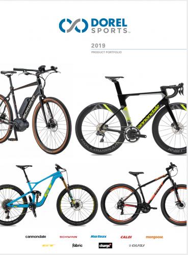 The cover of Dorel Sports' 2019 Product Portfolio