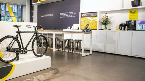 VanMoof's new Seattle store.