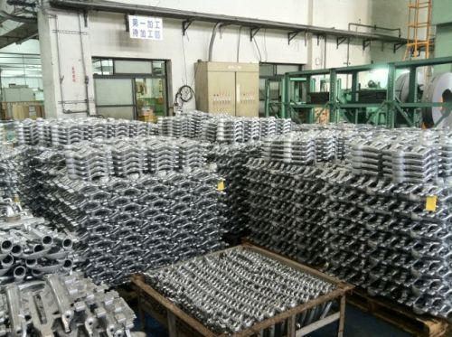 Magnesium castings at the SR Suntour factory near Taichung.