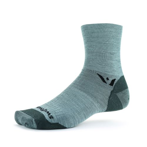 The Swiftwick Pursuit Ultralight Four in heather color.