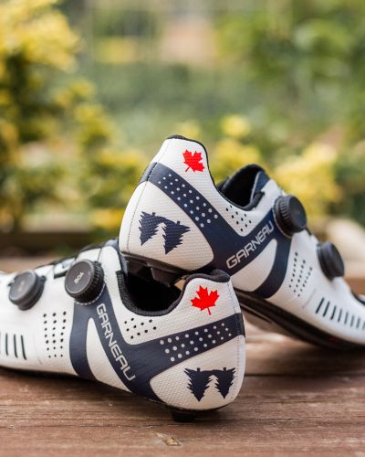 The Garneau Mike Woods limited edition shoe. Photo by Tristan Cardew.