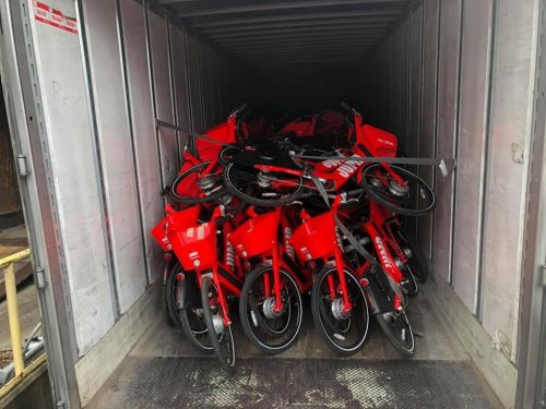 Uber sent unwanted e-bikes and e-scooters to a scrap yard.