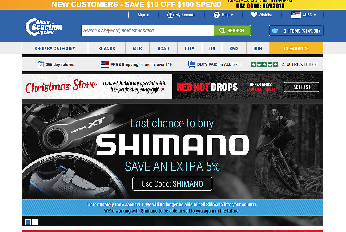 Uks Chain Reaction Cycles To End Shimano Sales To Consumers In Us