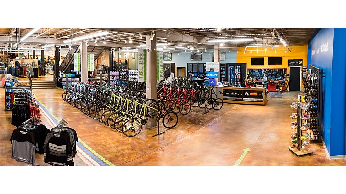 Lewis & Clark Outfitters added 3,000 square feet to its bike shop. Kevin McIlwaine photo.