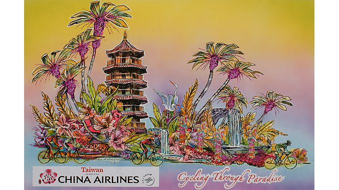 The artist's design for the China Airlines float