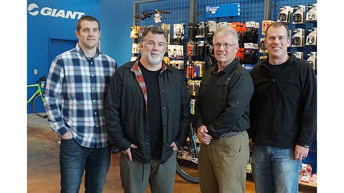 From left to right: Matt Potts, Darrell Potts, Jim Potts, Rob Potts. Kevin McIlwaine photo.