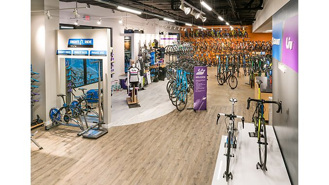 Giant Lakeside boasts 3500-square feet of bicycle retail space and exclusively sells the Giant, Liv, and Momentum brands.