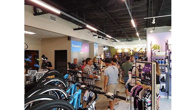 Giant Lakeside celebrated its grand opening the weekend of July 15 – 17. The celebration featured demo rides on 2017 Giant and Liv performance road and mountain bikes, as well as numerous raffles and sales specials.