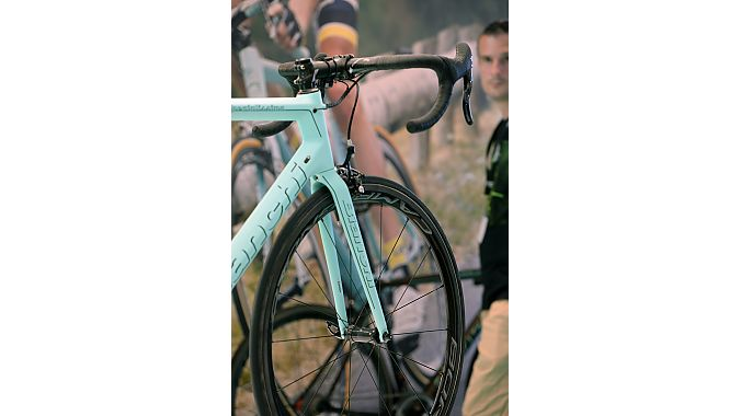 Eurobike attendees admire the Specialissima this week.