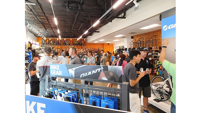 Giant Lakeside's grand opening celebration also featured a TUPPS Brewery Beer Tasting during a special reception.