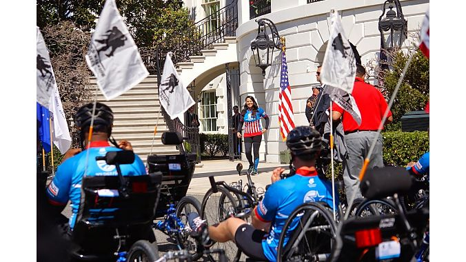 A photo from a previous Soldier Ride visit to the White House.