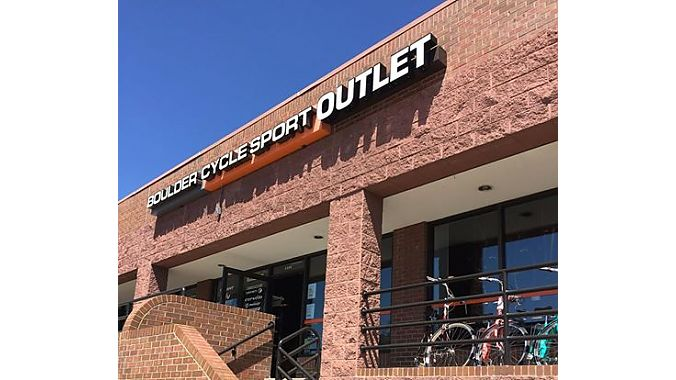 BCS's South Boulder location gets 'outlet' added to its sign.