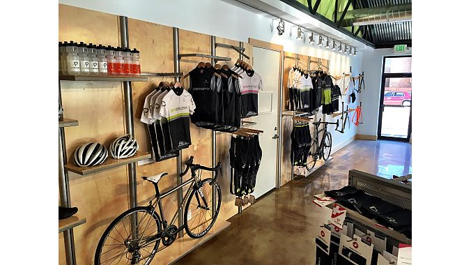 The new Pro Peloton showroom.