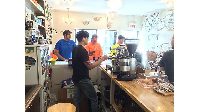 Lamar Timmins gives BRAIN the story about his business while serving up espressos.