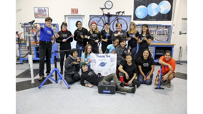 A 2017 class sends thanks to Park Tool, a scholarship title sponsor, for supplying tools for scholarship winners.