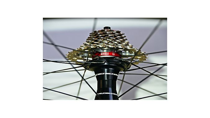 the HOUP (Halo of Ultimate Protection) cassette adapter, designed to provide more clearance between the rear spokes and derailleur.