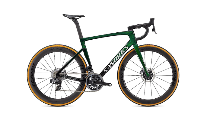 Recalled Specialized Tarmac SL7 in green.