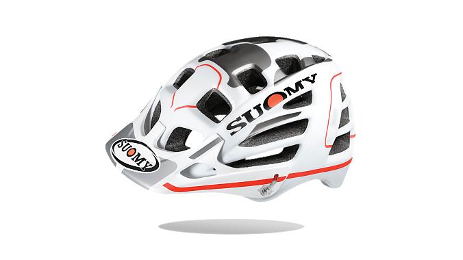 The Suomy Scrambler, a mountain bike/enduro helmet.