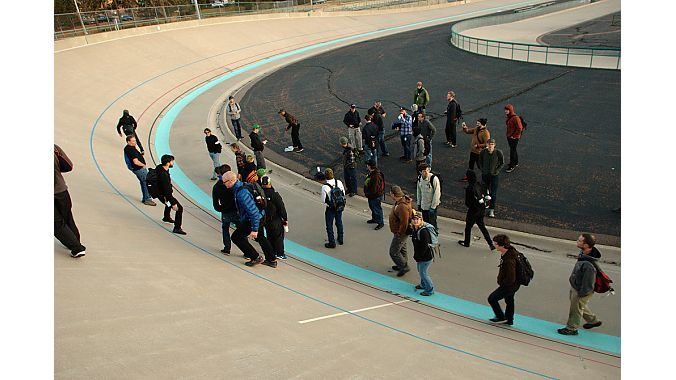 The class was able to make use of the velodrome at the Olympic Training Center in Colorado Sprigs.