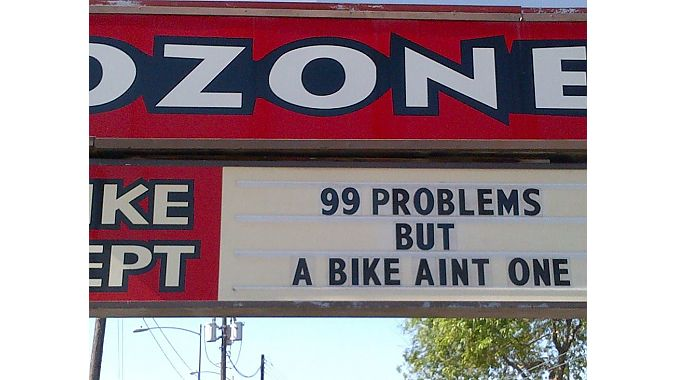 Ozone's large sign often displayed entertaining messages.