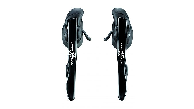 The Athena mechanical levers get the angled thumbshifter similar to the EPS groups.