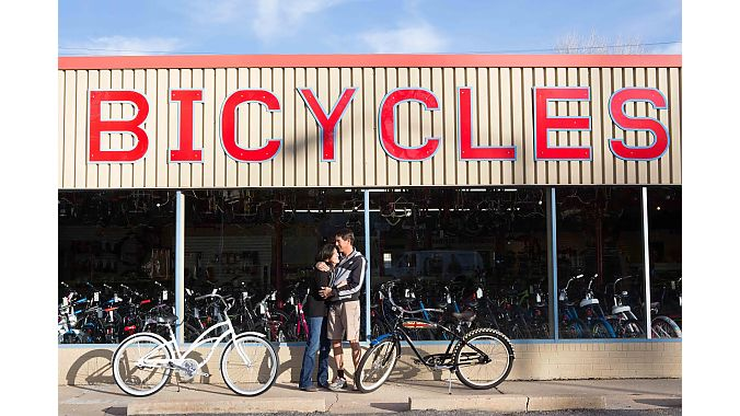 The shop stocks bikes from Surly, Electra, Haro and Trek.