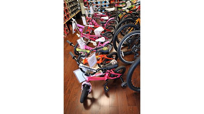 Family Bicycles' kids bike selection.