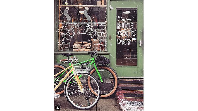 Shops from Washington State to Jacksonville, Florida, participated in Bike Shop Day, including Cambridge Bicycles, in Cambridge, Massachusetts. Photo by customer @TipsyRider.