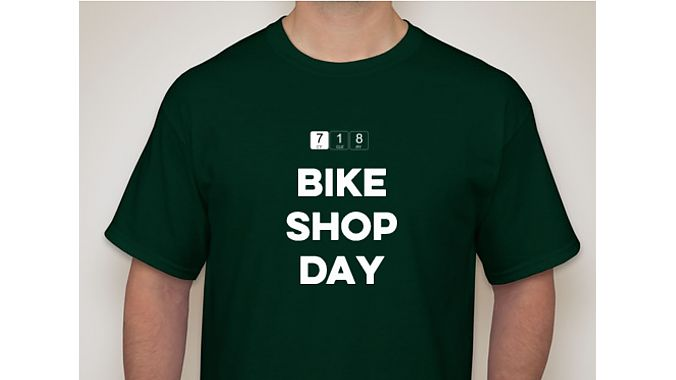 The first 25 people to visit Brooklyn's 718 Cyclery for Bike Shop Day on Dec. 9 will receive a free T-shirt.